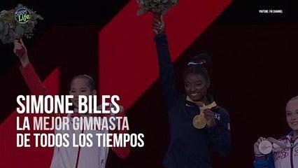 Simone Biles ya es la mayor medallista de la historia en gimnasia