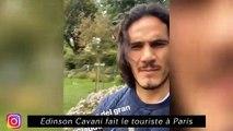Cavani fait le touriste à Paris