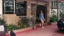 Kriti Sanon in Denim Shirt and Shorts Spotted at Kwan Office Andheri