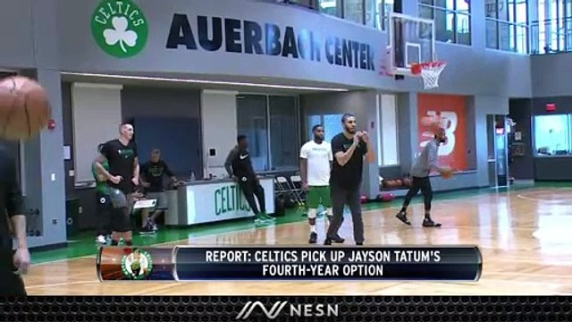 Celtics Pickup Jayson Tatum's Fourth-Year Option