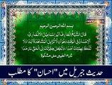 Meaning of Ihsan in Hadith-e-Jibreel.