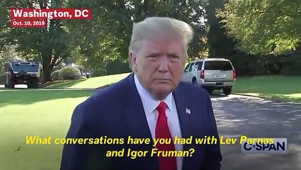 Trump Denies Knowing Giuliani Associates Lev Parnas And Igor Fruman Despite Photos