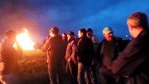 Void-Vacon (55) : opération feu des agriculteurs des JA et de la FDSEA Meuse