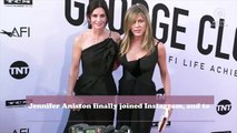 Jennifer Aniston just joined Instagram and celebrated with a post of her Friends