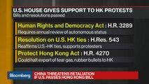 China Threatens Retaliation if U.S. Passes Hong Kong Bill