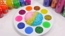 Kids Play And Learn Colors Slime Orbeez Toys Mixing My All Slime Glitter Clay Toys For Kids DIY