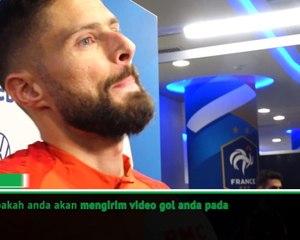 Giroud akan mengirim video golnya bersama Prancis pada Lampard?