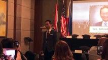 Presidential Spokesperson Salvador Panelo serenades real estate executives