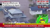 Rescue efforts underway after Typhoon Hagibis dreches Japan with widespread floods