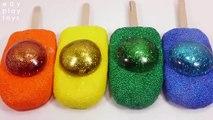 Kids Learn Colors Glitter Water Balloon Ice Cream Foam Glue Clay Slime DIY Toys For Kids