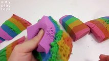 Kids Play And Learn Colors Clay Slime Mixing Colors Kinetic Cake Sand Toys For Kids