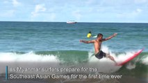 Far out: Myanmar's first surfing team to hit Southeast Asian games