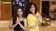 Spotted Taapsee Pannu and Bhumi Pednekar promoting Saand Ki Aankh