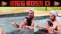 Bigg Boss 13: Paras Chhabra, Shehnaz Gill, Mahira Sharma make fun in swimming pool | FilmiBeat