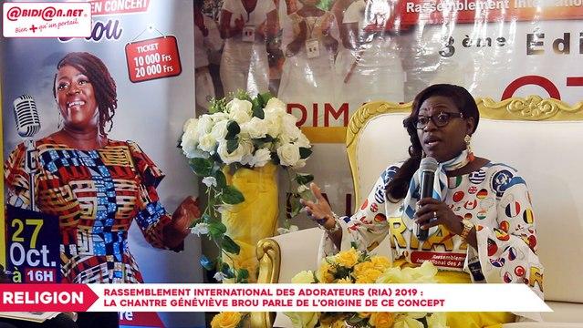Rassemblement international des Adorateurs (RIA) 2019 : La chantre Geneviève Brou parle des motivations