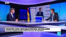 Procès des séparatistes catalans : Nouvelle mobilisation après une nuit de violence