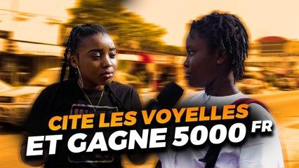 CITES LES SIX VOYELLES DE L'ALPHABET A L'ENVERS ET GAGNE 5000 FRANCS