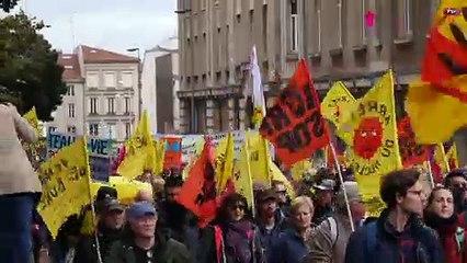 Les images de la manifestation anti-nucléaire Vent de Bure à Nancy