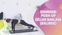 Diamond push-up (eller baklava şeklinde) - Sağlığa bir Adım