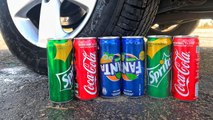 EXPERIMENT WITH SLOW MOTION! CAR VS COCA COLA VS SPRITE VS FANTA VS PEPSI