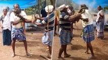 Man rescued from python by locals in Thiruvananthapuram, Watch Video | OneIndia News