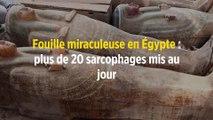 Fouille miraculeuse en Égypte : plus de 20 sarcophages mis au jour