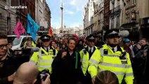 Guardian newspaper columnist George Monbiot arrested at Extinction Rebellion protest in London