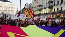 Hundreds gather in support of Catalan independence in Madrid