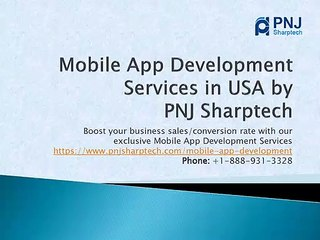 Best Mobile App Development Services in USA by PNJ Sharptech