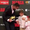 L'attitude hilarante de Matéo Messi pour la remise du Soulier d'Or