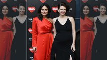 Kareena Kapoor Kalki Koechlin and Rhea Kapoor at a studio to shoot for an episode of What Women Want