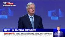 """Michel Barnier: """"Nous avons trouvé un accord avec le gouvernement britannique sur le retrait du Royaume-Uni de l'Union européenne"""""""