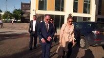 Paul Gascoigne arrives at court