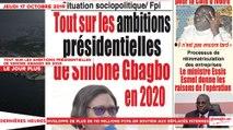 Le Titrologue du 17 Octobre 2019 :Tout sur les ambitions présidentielles de Simone Gbagbo en 2020
