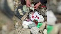 Kağıthane'de 6 ay önce çöken binanın enkazından çıkarılan ziynet eşyaları ve paralar sahibine...