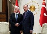 Cumhurbaşkanı Erdoğan ve Mike Pence arasıdaki kritik görüşme başladı