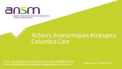 Acteurs économiques étrangers: Columbia Care