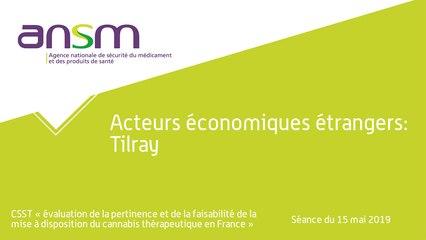 Acteurs économiques étrangers: Tilray