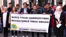 İstanbul-istanbul üniversitesi öğrencilerinden barış pınarı harekatı'na destek
