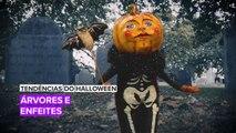 Tendências do Halloween: Árvores de natal ganharam um novo tema