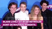 Ryan Reynolds et Blake Lively dévoilent le premier cliché de leur troisième enfant