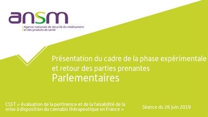 Présentation du cadre de la phase expérimentale et retour des parties prenantes Parlementaires