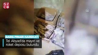 Tel Abyad'da mayın ve roket deposu bulundu