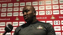 Doncaster Rovers manager Darren Moore on the health of loanee Kazaiah Sterling