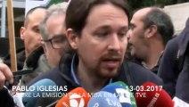 Pablo Iglesias, 'picado' por el subidón de audiencia de la Misa en TVE