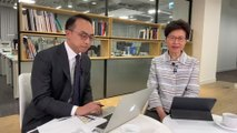 Carrie Lam fields questions from netizens on Facebook Live event