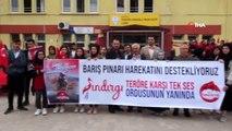 Sındırgı Anadolu İmam Hatip Lisesi öğretmen ve öğrencilerinden Barış Pınarı Harekatı'na destek