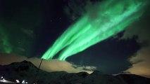 Une magnifique aurore boréale en Norvège