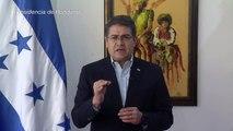 """Presidente hondureño rechaza ser estado """"narco"""" ante acusaciones en EEUU"""