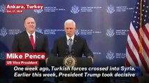 Pence: Turkey Agrees To Ceasefire In Syria 'Thanks To Strong Leadership Of Donald Trump'